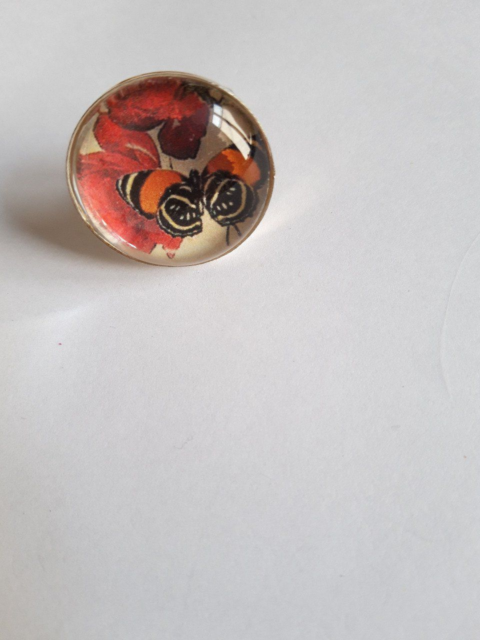 Bague ronde Butterfly